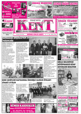 18-11-2014 Tarihli Kent Gazetesi