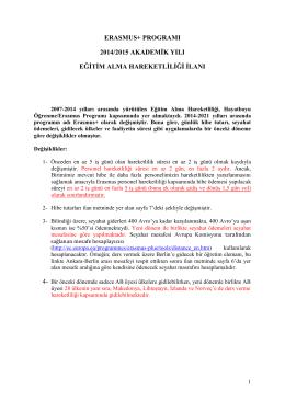 eğitim alma 2014-2015 1.ilan