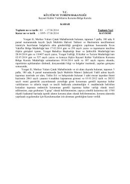 Yozgat-Merkez 5 Pafta 180 Ada 8 Parsel Sit Dışındaki Tekke Evi ve