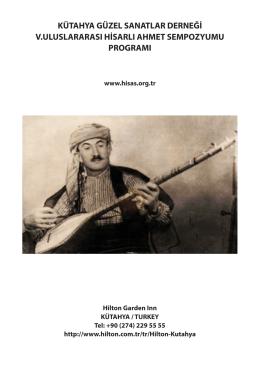 Uluslararası Hisarlı Ahmet Sempozyumu