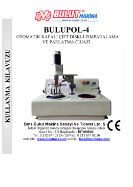 BULUPOL-4 - Bulut Makina Ltd.