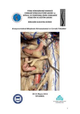 Birleşik Kadavra Kursu - Türk Nöroşirurji Derneği Spinal ve Periferik