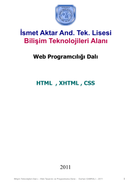 Ders2-Html_xhtml_css (Ders Notu)