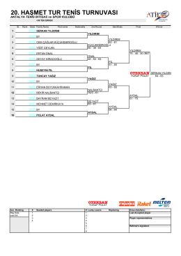 30+ - Antalya Tenis İhtisas ve Spor Kulübü