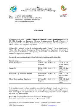 Tematik Grup Toplantıları - Çölleşme ve Erozyonla Mücadele Genel