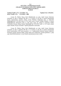 Çorum - Merkez - Kale Mah. 509 Ada 5 ve 9 Parseller ile 256 Ada 22