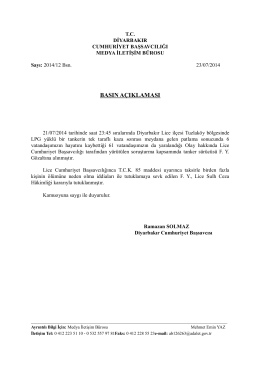 23.07.2014 tarihli basın açıklaması