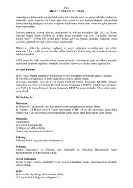 ilgili ilan, başvuru şartları ve diğer belgeler için