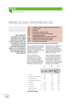 SIEMENS, GAZ İZOLELİ TRAFO MERKEZLERI (GIS)