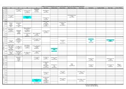 2014-2015 eğitim-öğretim yılı güz dönemi ders programı