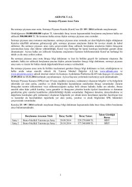 Sermaye Piyasası Aracı Notu