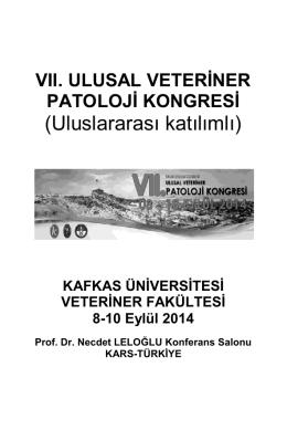 Kongre Programı - Kafkas Üniversitesi 7. Uluslararası Katılımlı