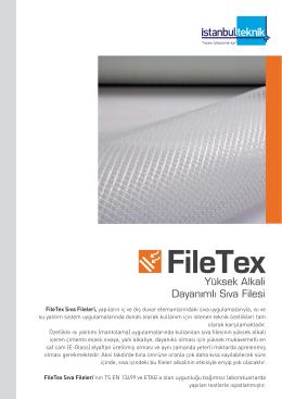 FileTex Sıva Fileleri, yapıların iç ve dış duvar