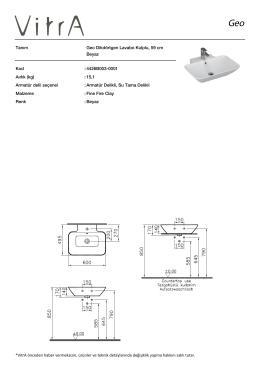 Tanım Geo Dikdörtgen Lavabo Kulplu, 59 cm Beyaz Kod