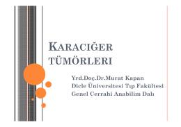 KARACIĞER TÜMÖRLERI - Dicle Üniversitesi