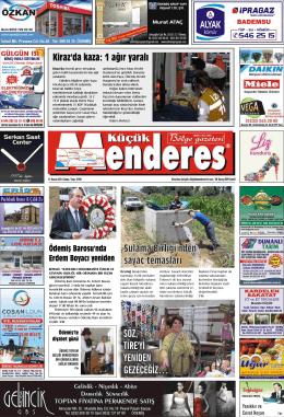 21 Kasım Tarihli Küçükmenderes Gazetesi