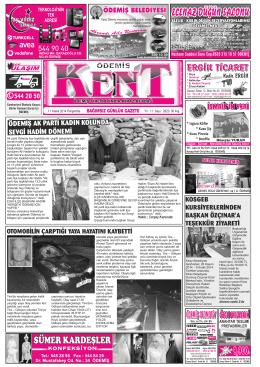 11-12-2014 Tarihli Kent Gazetesi