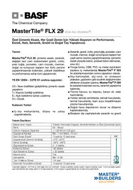MasterTile® FLX 29 (Eski Adı Ultrafleks®) Özel Çimento Esaslı, Her