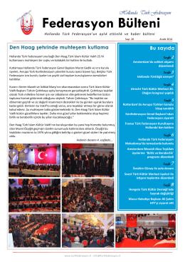 Federasyon Bülteni Sayı 26 - Aralık 2014