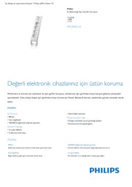 Product Leaflet: 4 çıkışlı 900J Ev Elektroniği Aşırı Gerilim Koruyucu