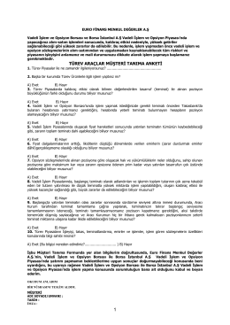 Vadeli İşlem Hesap Sözleşmesi (VİOP)
