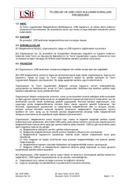 itu belge ve usb logo kullanım kuralları prosedürü