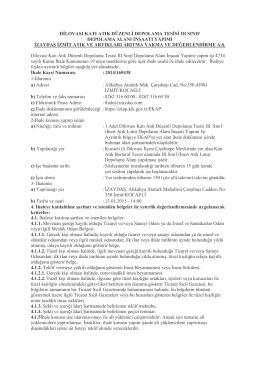 Dilovası Katı Atık Düzenli Depolama Tesisi III Sınıf