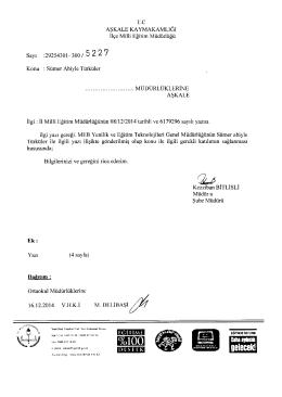 Sümer Abiyle Türküler - erzurum - aşkale ilçe millî eğitim müdürlüğü