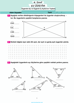 üçgende açı ve üçgenin iç açılarrı toplamı
