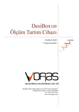 DesiBox100 Broşürü - Voras Ar-Ge