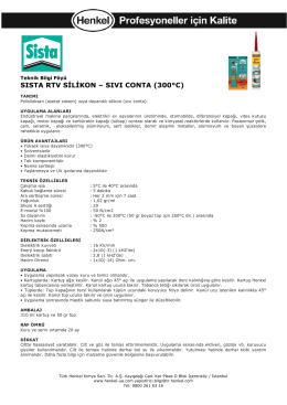 SISTA RTV SİLİKON – SIVI CONTA (300°C)