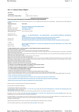 Sayfa 1 / 2 İlan Önizleme 14.02.2014 https://ekap.kik.gov.tr/EKAP