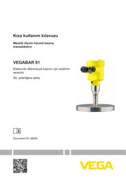 VEGABAR 81 - Elektronik diferansiyel basıncı için arabirim sensörü
