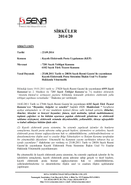 7201 Sayılı Tebligat Kanunu 6102 Sayılı Türk Ticaret Kanunu