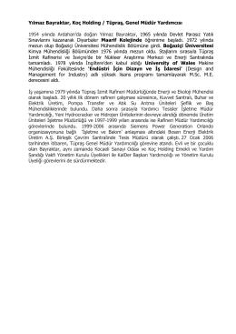Yılmaz Bayraktar, Koç Holding / Tüpraş, Genel Müdür