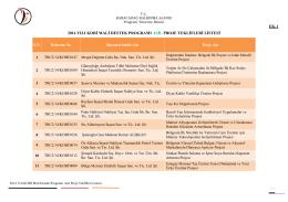 ek-1 2014 yılı kobi mali destek programı asil proje teklifleri listesi