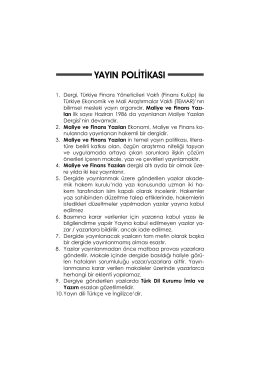 yayın politikası