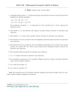 1. Ödev