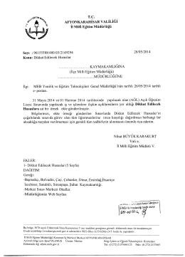 31 Mayıs - 01 Haziran 2014 de yapılacak olan AÖL sınavında dikkat