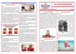 okul öncesi dönemindeki çocukların gelişim özellikleri