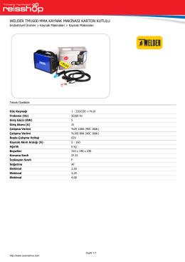 welder tm1600 mma kaynak mak nası karton kutulu