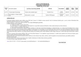 taşınır mal satış ilanı - Antalya Defterdarlığı