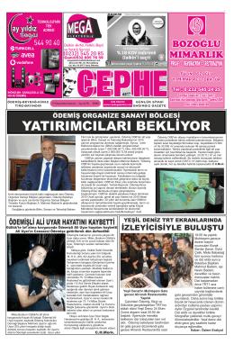 27.10.2014 Tarihli Cephe Gazetesi