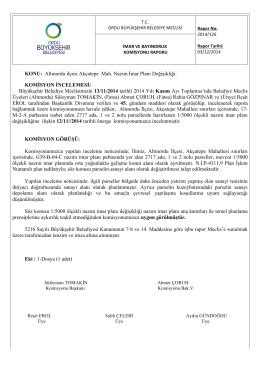 126. komisyon raporu - Ordu Büyükşehir Belediyesi
