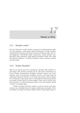 Module ve Mixin 17.1 Module nedir? 17.2 Neden Module?