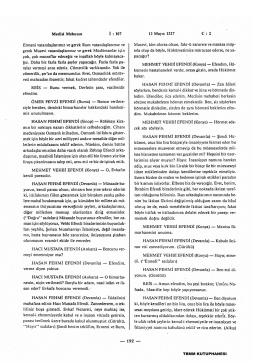 Meclisi Mebusan 12 Mayıs 1327 C : 2 Ermeni vatandaşlarımız ve