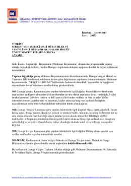 DURUM TESPİTİ - İstanbul Serbest Muhasebeci Mali Müşavirler Odası
