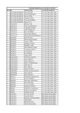Katılımcı Listesi - İller İdaresi Genel Müdürlüğü