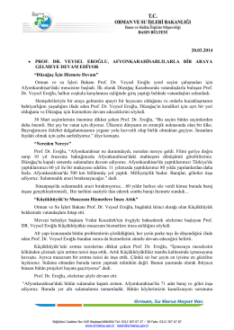 20.03.2014 • PROF. DR. VEYSEL EROĞLU