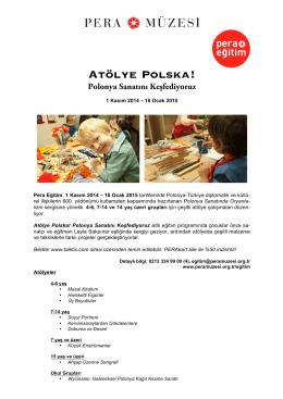Atölye Polska! Polonya Sanatını Keşfediyoruz